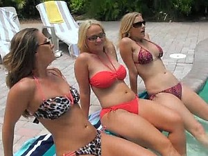 Three Cock-Bursting Blonde Sluts Having an Outdoor Lesbian Threesome