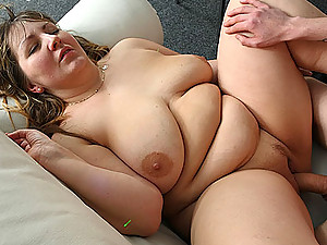 His cock is thick and hard and it fucks the BBW at the party as she moans about how good it feels