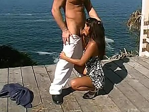 Pussy and Anal Sex Outdoors With a Beautiful Ocean View Behind
