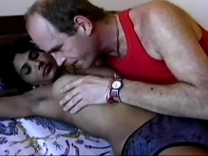 Girl giving blowjob to uncle