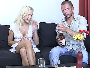 The fresh new cock feels good in her naughty pussy and it's her boyfriend's brother doing it