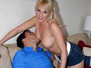 Naughty blonde is a cock craver