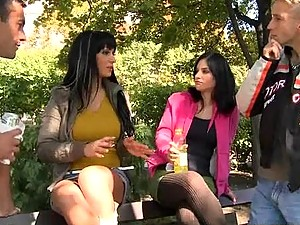 Lexy And Samantha Teaming Up To Get Banged By Two Hard Dicks