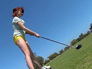 Redhead MILF Joslyn James wants to Fuck her Golf Instructor