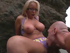 Outdoors Sex With Blonde Jessica Moore In The Beach At Sunrise