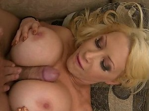 Big Breasted Blond MILF Candy Mason Titty and Pussy Fucks