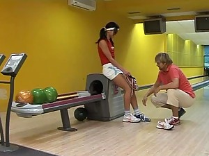 Veronika Harmackova getting Fucked in a Bowling Alley
