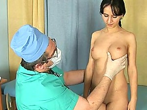 Too upsetting medical exam of a nude girl
