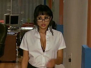 Horny Secretary Abella Anderson Gets Fucked In The Office