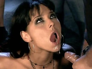 Slutty Brunette Simony Diamond Gets Double Penetrated In Gangbang